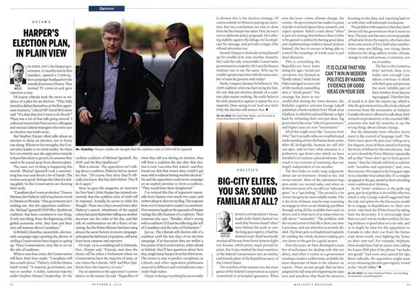 Article Preview: HARPER'S ELECTION PLAN, IN PLAIN VIEW, October 2010 | Maclean's