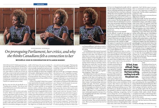 Article Preview: On proroguing Parliament, her critics, and why she thinks Canadians felt a connection to her, October 11th 2010 | Maclean's