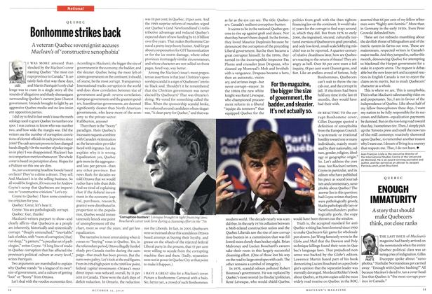 Article Preview: Bonhomme strikes back, October 11th 2010 | Maclean's