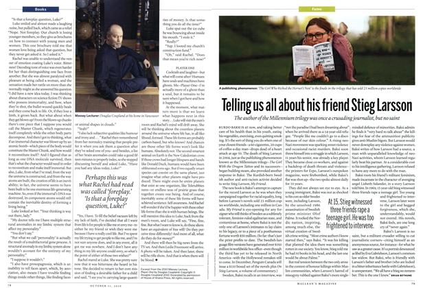 Article Preview: Telling us all about his friend Stieg Larsson, October 11th 2010 | Maclean's