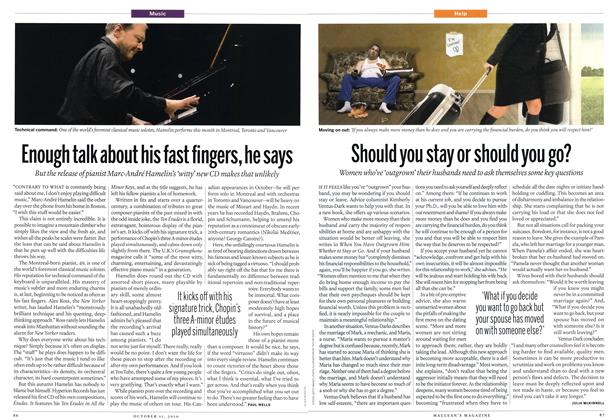 Article Preview: Enough talk about his fast fingers, he says, October 11th 2010   Maclean's