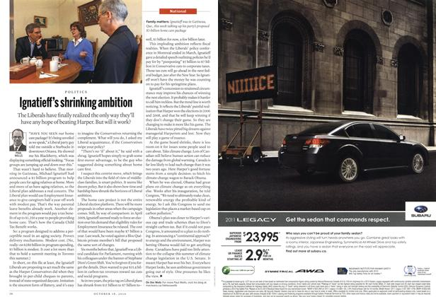 Article Preview: Ignatieff's shrinking ambition, October 18th 2010   Maclean's