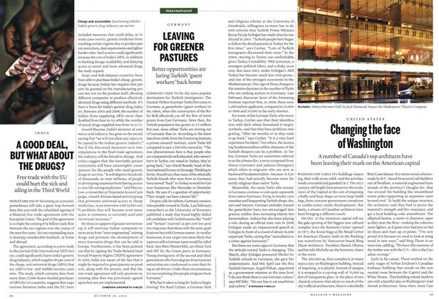 Article Preview: LEAVING FOR GREENER PASTURES, October 18th 2010 | Maclean's