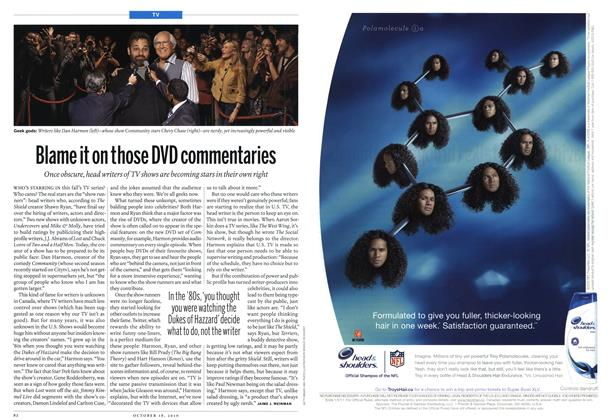 Article Preview: Blame it on those DVD commentaries, October 18th 2010 | Maclean's