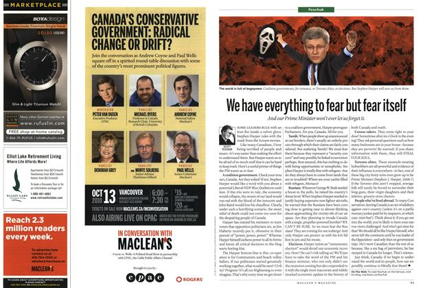 Article Preview: We have everything to fear but fear itself, October 18th 2010 | Maclean's