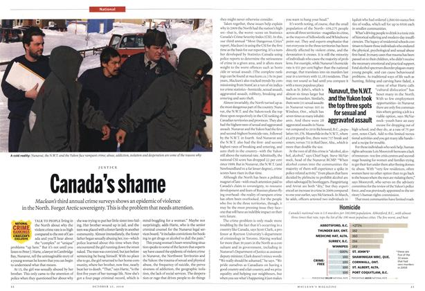 Article Preview: Canada's shame, October 25th 2010 | Maclean's