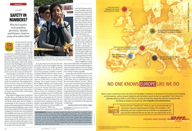 Article Preview: SAFETY IN NUMBERS?, October 25th 2010 | Maclean's