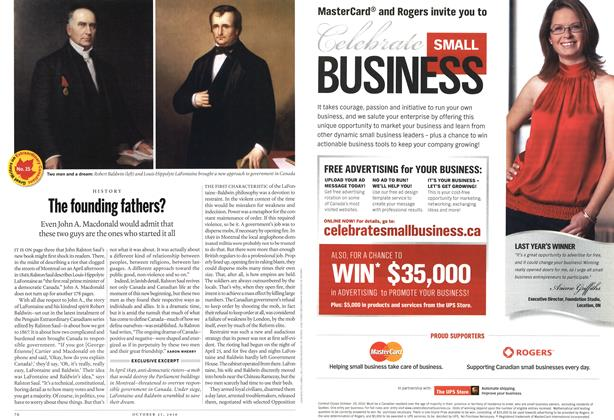 Article Preview: The founding fathers?, October 2010 | Maclean's