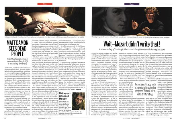 Article Preview: MATT DAMON SEES DEAD PEOPLE, October 25th 2010 | Maclean's