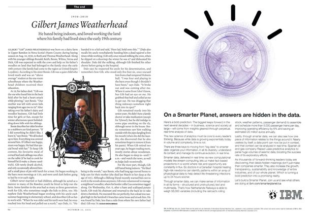 Article Preview: 1930-2010 Gilbert James Weatherhead, October 25th 2010 | Maclean's