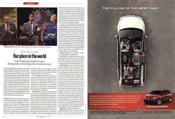 Article Preview: Our place in the world, November 2010 | Maclean's