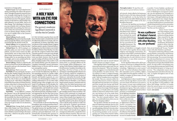 Article Preview: A HOLY MAN WITH AN EYE FOR CONNECTIONS, November 2010 | Maclean's