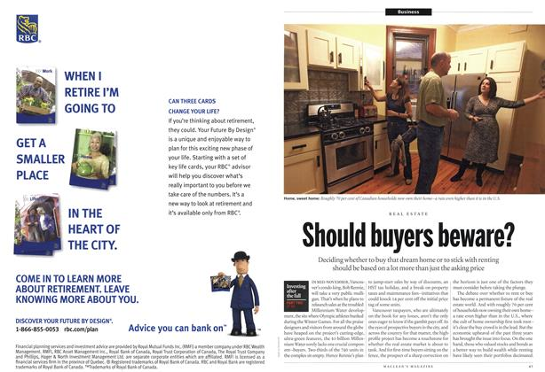 Article Preview: Should buyers beware?, November 1st 2010 | Maclean's