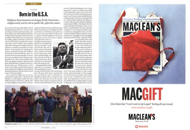 Article Preview: Born in the U.S.A., November 1st 2010 | Maclean's