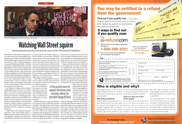 Article Preview: Watching Wall Street squirm, November 1st 2010 | Maclean's