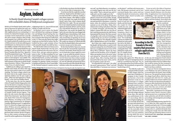 Article Preview: Asylum, indeed, November 8th 2010 | Maclean's