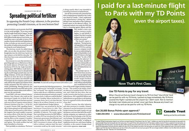 Article Preview: Spreading political fertilizer, November 8th 2010 | Maclean's