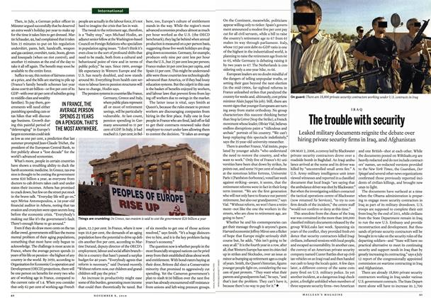 Article Preview: The trouble with security, November 8th 2010 | Maclean's