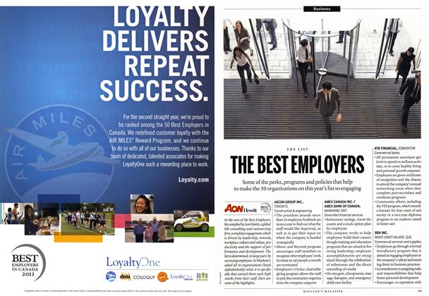 Article Preview: THE BEST EMPLOYERS, November 8th 2010 | Maclean's