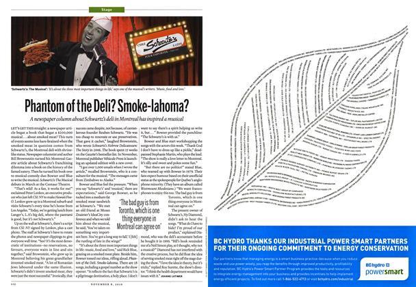 Article Preview: Phantom of the Deli? Smoke-lahoma?, November 8th 2010 | Maclean's