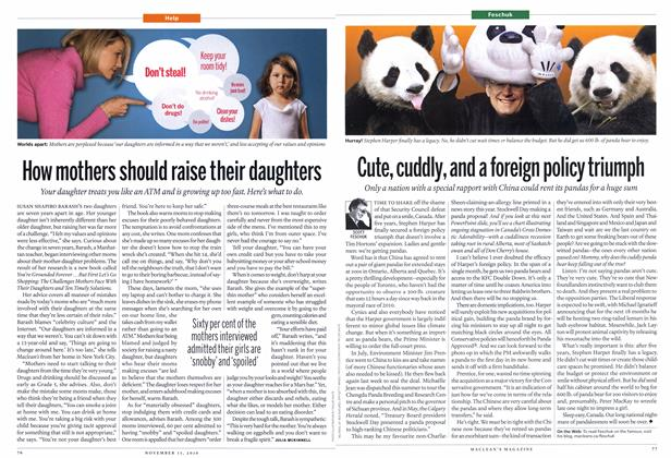 Article Preview: Cute, cuddly, and a foreign policy triumph, NOVEMBER 15th 2010 | Maclean's