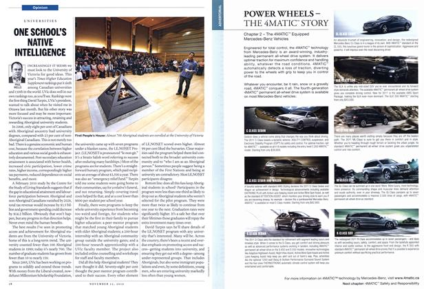 Article Preview: ONE SCHOOL'S NATIVE INTELLIGENCE, November 2010   Maclean's