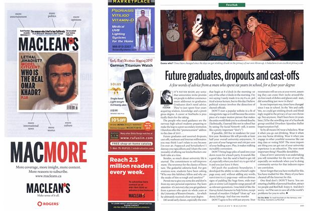 Article Preview: Future graduates, dropouts and cast-offs, November 2010 | Maclean's