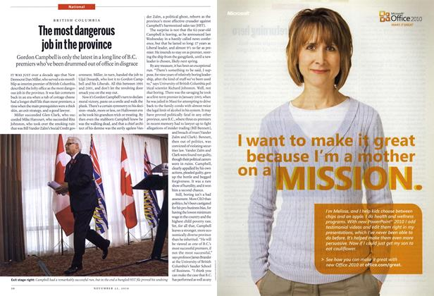 Article Preview: The most dangerous job in the province, November 22nd 2010 | Maclean's