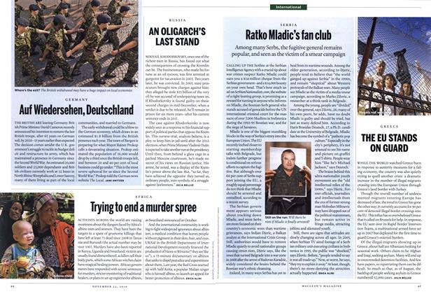 Article Preview: Ratko Mladic's fan club, November 2010 | Maclean's