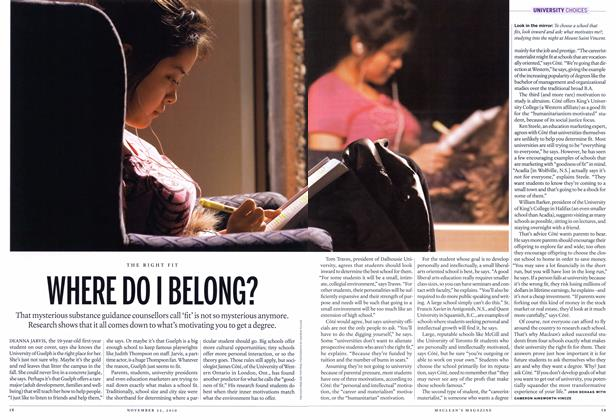 Article Preview: WHERE DO I BELONG?, November 22nd 2010 | Maclean's