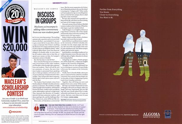 Article Preview: DISCUSS IN GROUPS, November 22nd 2010 | Maclean's