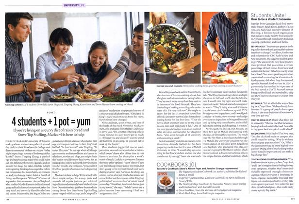 Article Preview: 4 students+1 pot=yum, November 2010 | Maclean's