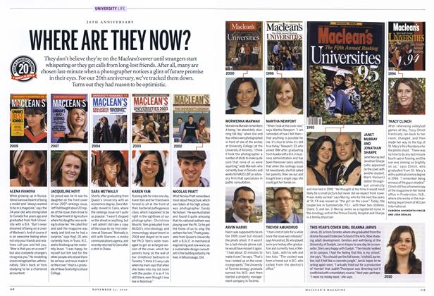 Article Preview: WHERE ARE THEY NOW?, November 22nd 2010 | Maclean's