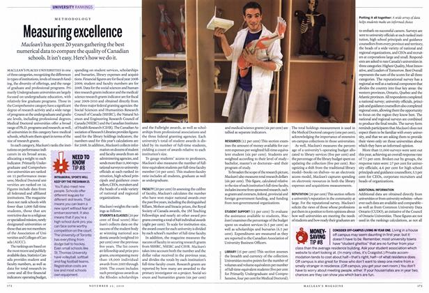 Article Preview: Measuring excellence, November 22nd 2010 | Maclean's