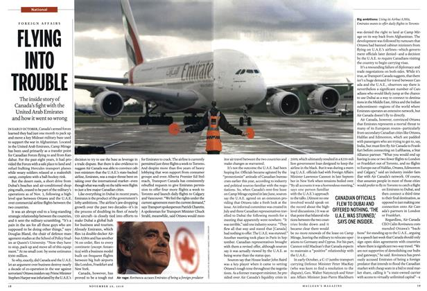 Article Preview: FLYING INTO TROUBLE, November 29th 2010 | Maclean's