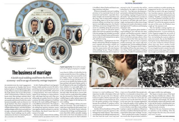 Article Preview: The business of marriage, November 29th 2010 | Maclean's