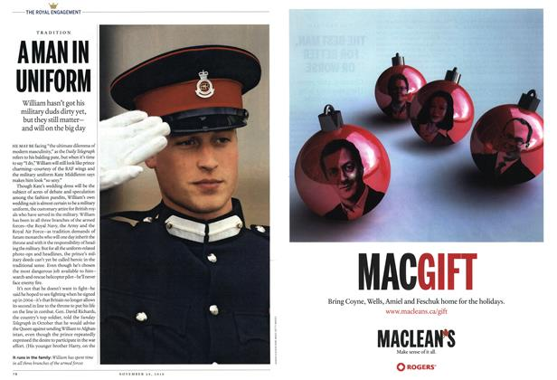 Article Preview: A MAN IN UNIFORM, November 29th 2010 | Maclean's