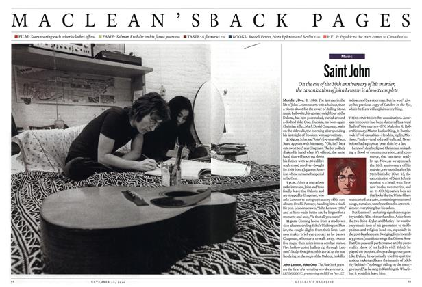 Article Preview: Saint John, November 29th 2010 | Maclean's