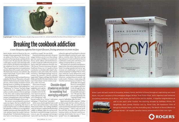 Article Preview: Breaking the cookbook addiction, November 29th 2010 | Maclean's