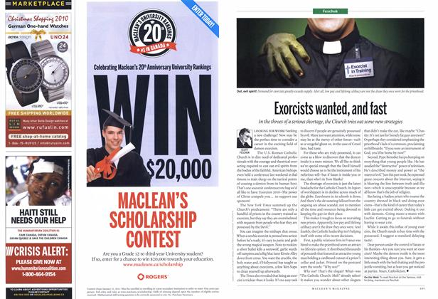 Article Preview: Exorcists wanted, and fast, November 2010 | Maclean's