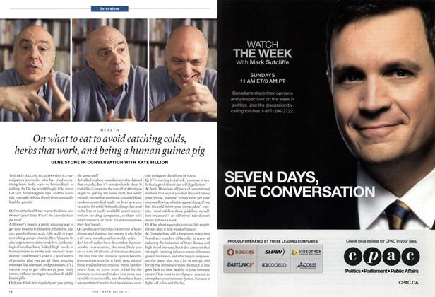Article Preview: On what to eat to avoid catching colds, herbs that work, and being a human guinea pig, November 29th 2010 | Maclean's
