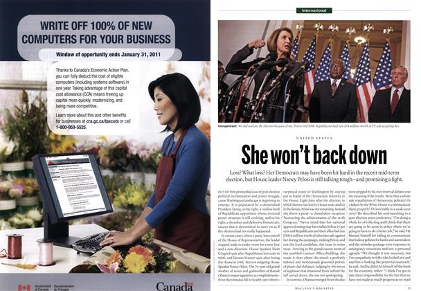 Article Preview: She won't back down, December 2010 | Maclean's
