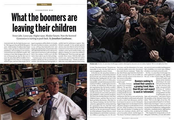 Article Preview: What the boomers are leaving their children, December 6th 2010 | Maclean's