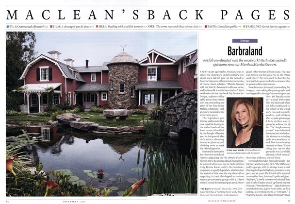 Article Preview: Barbraland, December 6th 2010 | Maclean's