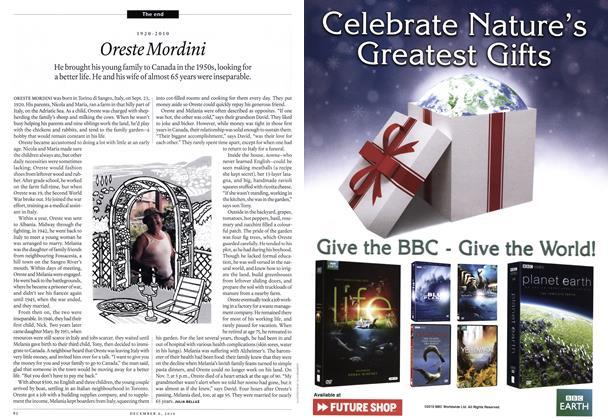 Article Preview: 1920-2010 Oreste Mordini, December 6th 2010 | Maclean's
