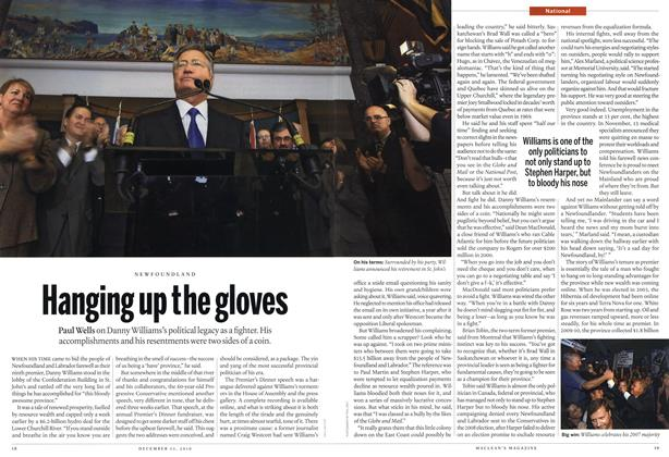 Article Preview: Hanging up the gloves, December 2010 | Maclean's