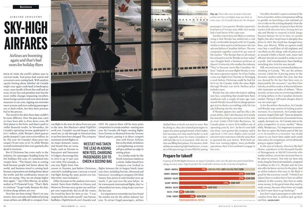 Article Preview: SKY-HIGH AIRFARES, December 13th 2010 | Maclean's