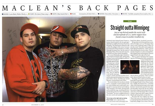 Article Preview: Straight outta Winnipeg, December 13th 2010 | Maclean's