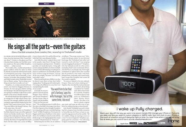 Article Preview: He sings all the parts—even the guitars, December 13th 2010 | Maclean's