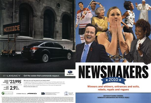 Article Preview: NEWSMAKERS 2010, December 2010 | Maclean's